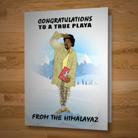 """Congrats Playa"" card"