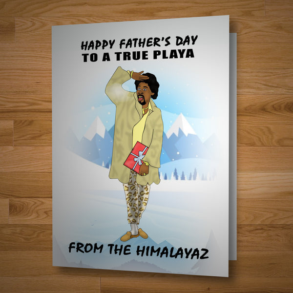 """True Playa"" Fathers Day card"
