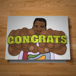 """Congrats Ring"" card"