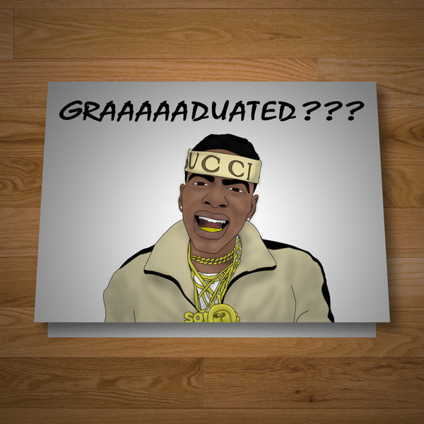 """Greatest Comeback"" graduation card"