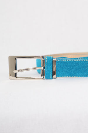 Turquoise Leather Belt - M