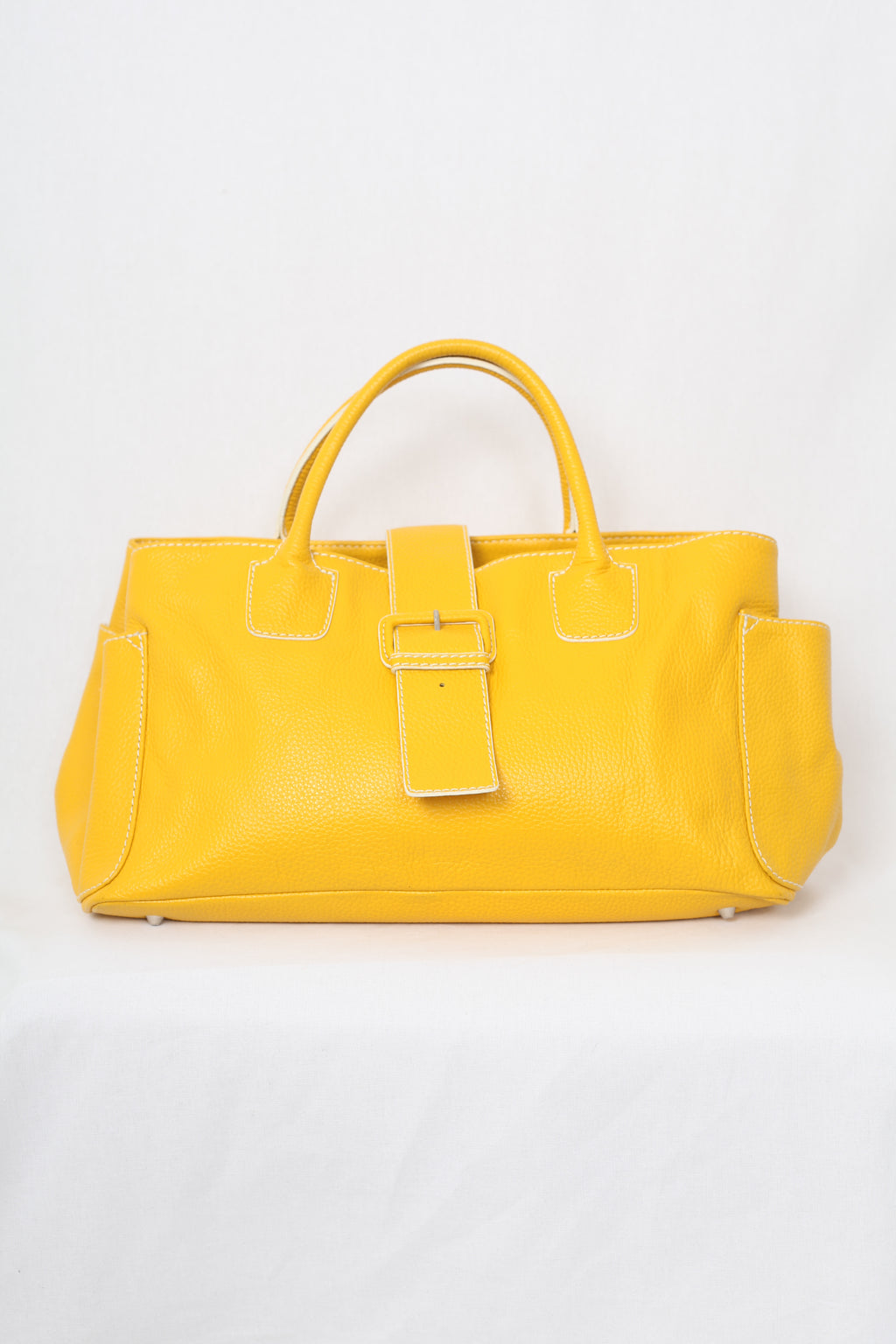 Yellow Leather Handle Bag