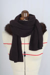 Wool and Mink Hood Scarf