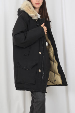Oversized down jacket fur hood - S/M