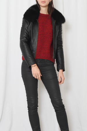 Les petites leather jacket - M