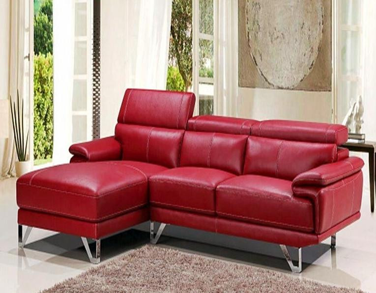 Durable 3 Seater Chaise Cu Leather L Shape Sofa Couch Set Sff215
