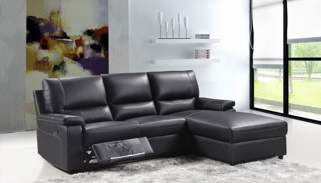Electric Recliner with Chaise leather sofa LP26