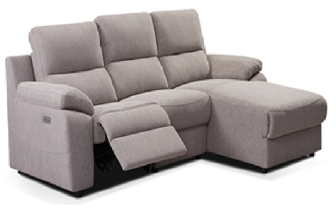 2 Seater With L-Shape Half Leather Recliner Sofa LP88