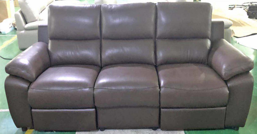 Comfortable 3 Seater Half Leather Recliner Sofa LP88