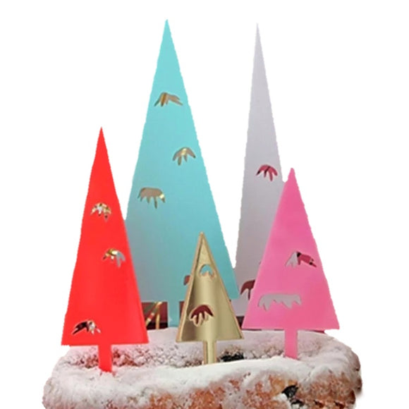 Christmas Tree 5pc Topper Set