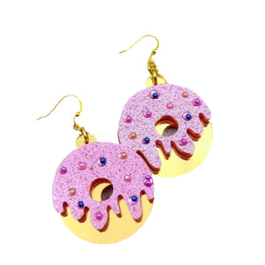 Sparkly Donut Earrings