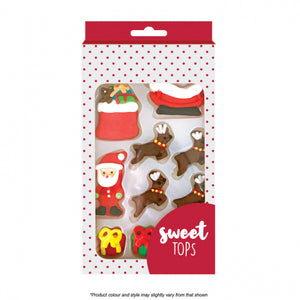 Sweet Tops Christmas Scene Cake Decorations