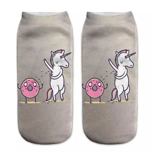 Unicorn Pit Novelty Ankle Socks