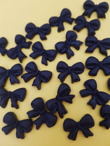 Mini Bow-Shaped Cake Decorations Pk 12