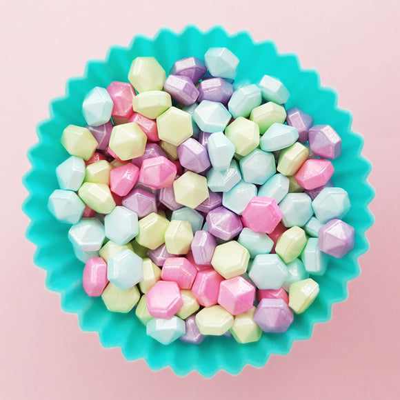 Pastel Diamond Shaped Candy Sprinkles