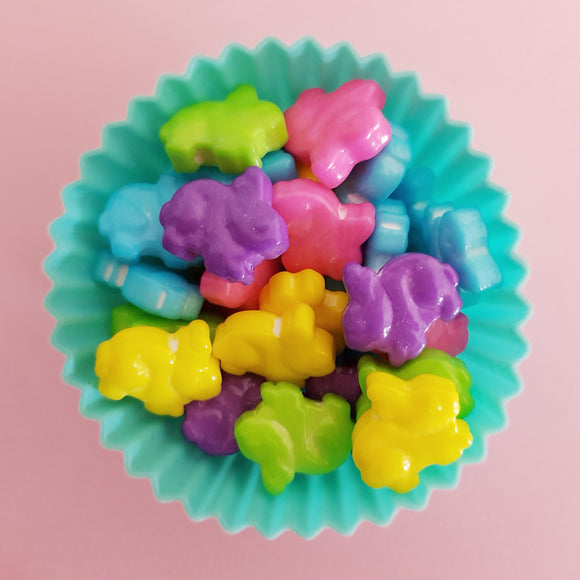 Neon Bunny Shaped Candy Sprinkles