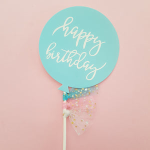 Birthday Balloon Cardstock Cake Topper