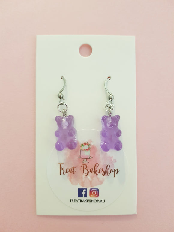 Handmade Gummy Bear Earrings
