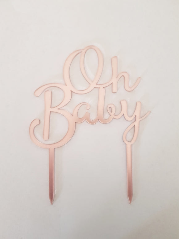 Oh Baby Acrylic Cake Topper