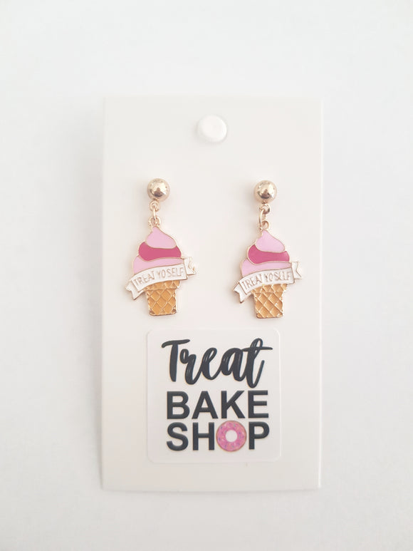 Treat Yo'self Ice Cream Earrings