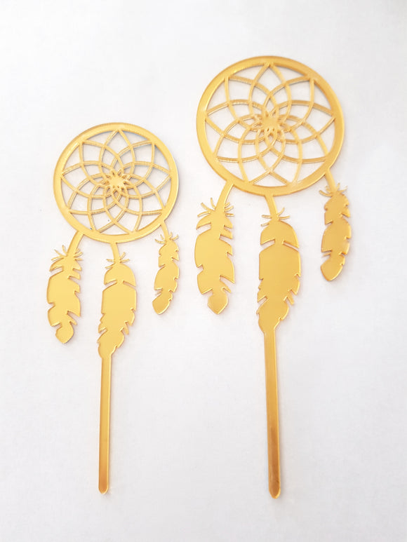 Dream Catcher 2pc Acrylic Cake Topper Set