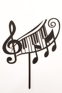 Musical Notes Acrylic Cake Topper