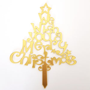 We Wish You A Merry Christmas Acrylic Cake Topper