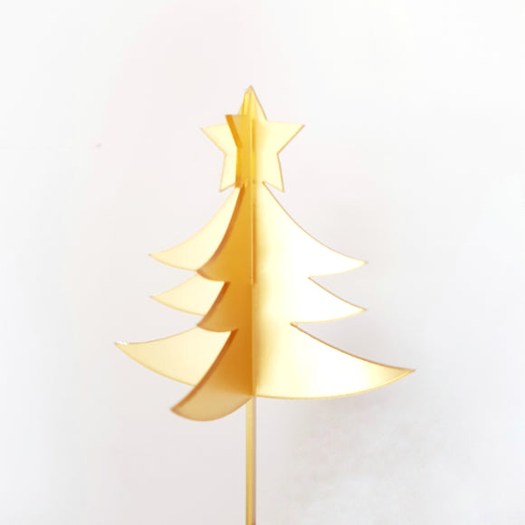 3D Christmas Tree Acrylic Cake Topper