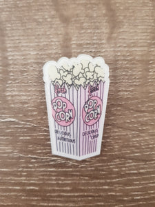Popcorn Box Brooch/Badge