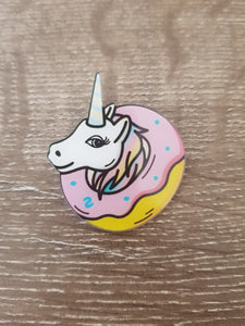 Unicorn Donut Brooch/Badge