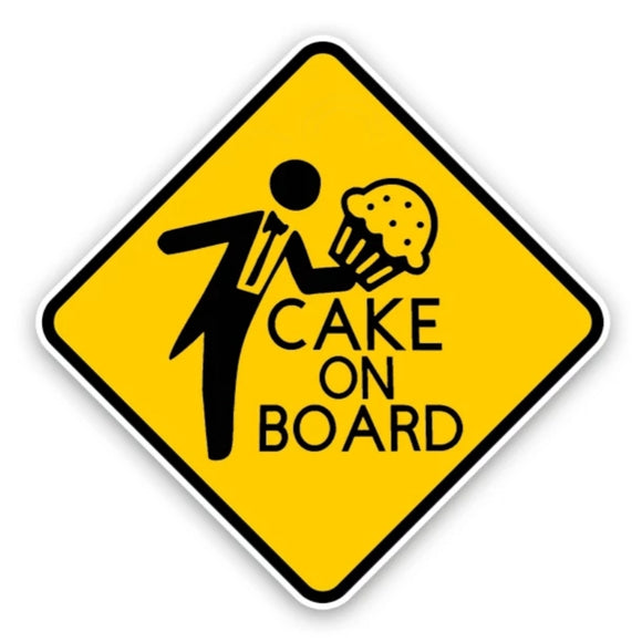 Cake On Board Car Sticker/Decal