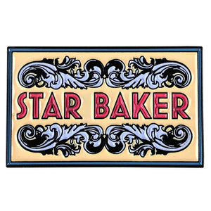 Enamel Star Baker Brooch/Badge