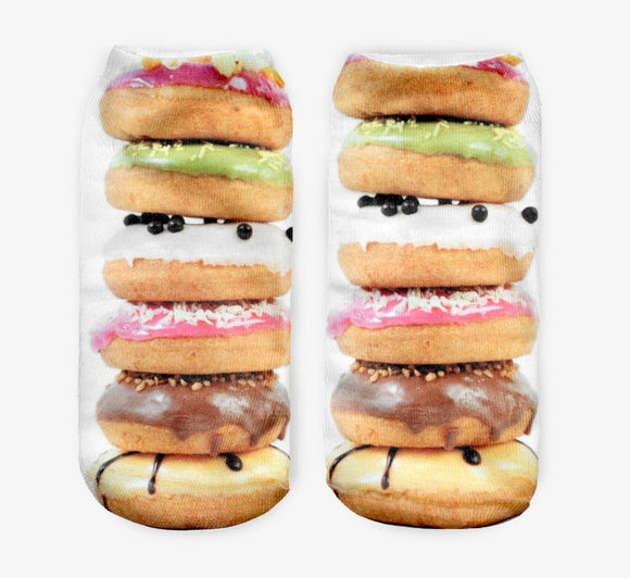 Donut Stack Novelty Ankle Socks