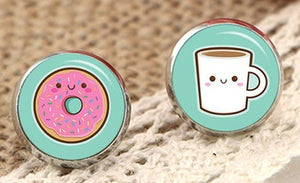 Coffee + Donut Earrings