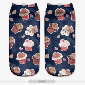 Muffins Novelty Ankle Socks