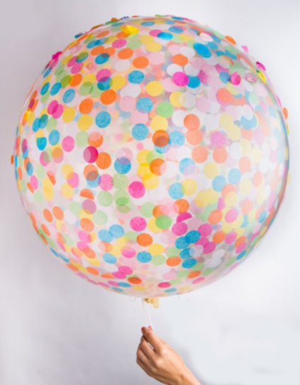 Rainbow Confetti Balloon | 18