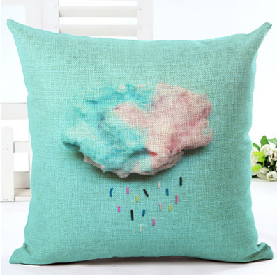 Cotton Candy Cloud Cushion Cover
