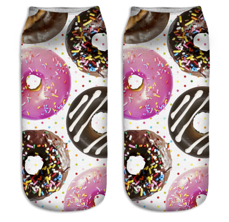 Classic Donuts Novelty Ankle Socks