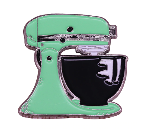 Enamel KitchenAid Mixer Brooch/Badge