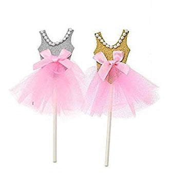 Ballet Tutu Cupcake Topper | Set of 5