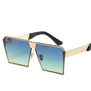 Chunky Thick Studded Flat Top Designer Inspired Sunglasses - Mix Colors