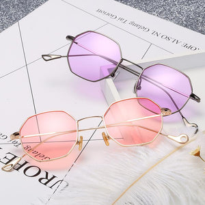 Round Thin Lightweight Cutout Tip Cat Eye Sunnies - Mix Colors