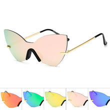 Load image into Gallery viewer, Solid One Piece Lens Cat Eye Wholesale Sunglasses - Mix Colors