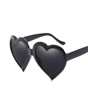 Cute Heart Shaped Plastic Frame Sunnies - Mix Colors