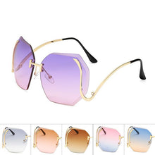 Load image into Gallery viewer, Womens Wholesale Big Trendy Hipster Plastic Aviator Sunglasses - Mix Colors