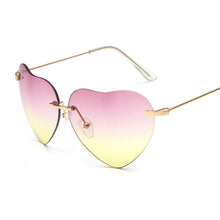 Load image into Gallery viewer, Small Thin Metal Heart Shaped Frame Cupid Sunglasses - Mix Colors