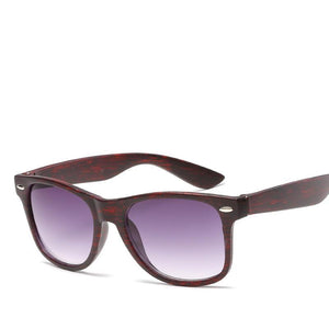 Sleek Wood Square Frame Daily Dark Shades Sunglasses - Mix Colors
