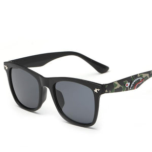 Fresh Squared Off Flat Top Stylish Street Scene Shades Sunglasses - Mix Colors