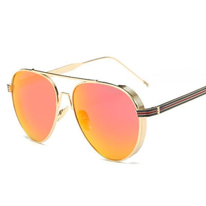 Sleek Modern Full Metal Round Sunnies - Mix Colors