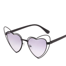 Load image into Gallery viewer, Sweet Metal Accent Bold Heart Shaped Sunglasses - Mix Colors